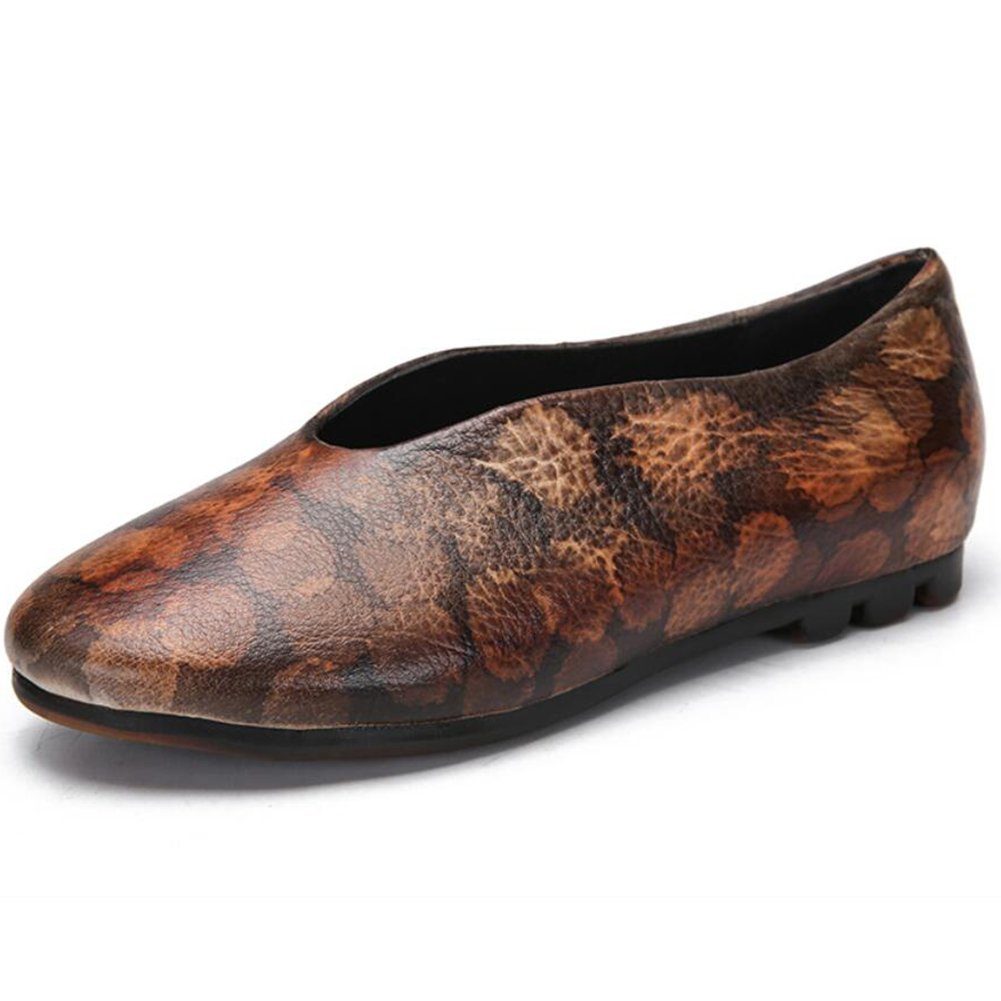XUE Damenschuhe Leder Frühjahr Sommer Loafers & Slip-Ons Fahr Schuhe National Style Sandalen Hausschuhe & Flip-Flops Wanderschuhe Office Breathable (Farbe   EIN, Größe   40)