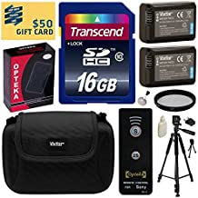 Beginner's Accessories Bundle Kit for Sony A3000, A3500, A5000, A6000, A7, A7S, A7R, A33, A35, A37, A55, DSC-RX10, NEX 3, NEX-3, NEX3, NEX 3N, NEX-3N, NEX3N, NEX 3NL, NEX-3NL, NEX3NL, NEX 5, NEX-5, NEX5, NEX 5N, NEX-5N, NEX5N, NEX 5R, NEX-5R, NEX5R, NEX 5T, NEX-5T, NEX5T, NEX 5TL, NEX-5TL, NEX5TL, NEX 6, NEX-6, NEX6, NEX 6L, NEX-6L, NEX6L, NEX 7, NEX-7, NEX7, NEX-C3, NEXC3, NEX C3, NEX-F3, NEXF3, NEX F3 includes 16GB Class 10 SDHC Memory Card + Pack of 2 Replacement (1200mAh) NP-FW50 Battery + A