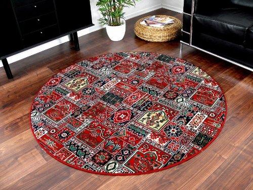 Orient Teppich Empire Rot Rund in 7 Größen, Größe 200 cm Rund
