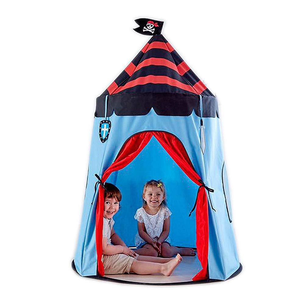 DASGF bambini Play Tent,Tenda per Bambini, Casa Giocattolo Pieghevole per Interni Ed Esterni,Miglior Regalo per Ragazzi O Ragazze,Castello dei Pirati, 110  110  150 Cm