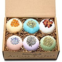 Bath Bombs Gift Set - Luxury Organic & Natural Ingredients - Safe for Kids – Relaxing Epsom Himalayan & Dead Sea Salts, Lush Essential Oils – Handmade in USA - Spa Fizzies-Vegan