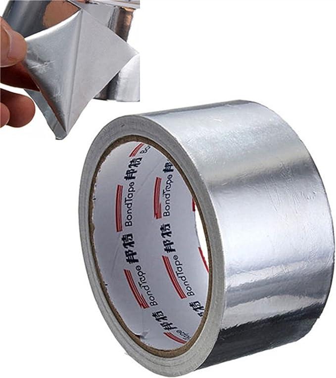 Amazon.com: XYXXBB 5cm17m Thermal Resist Duct Repairs High Temperature Resistant Foil Adhesive Tape Useful Aluminium Foil Adhesive Sealing Tape: Home & Kitchen