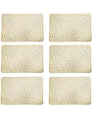 Zeller placemats, 6-delige set, goud, ca. 43,5 x 28,5 cm, 6