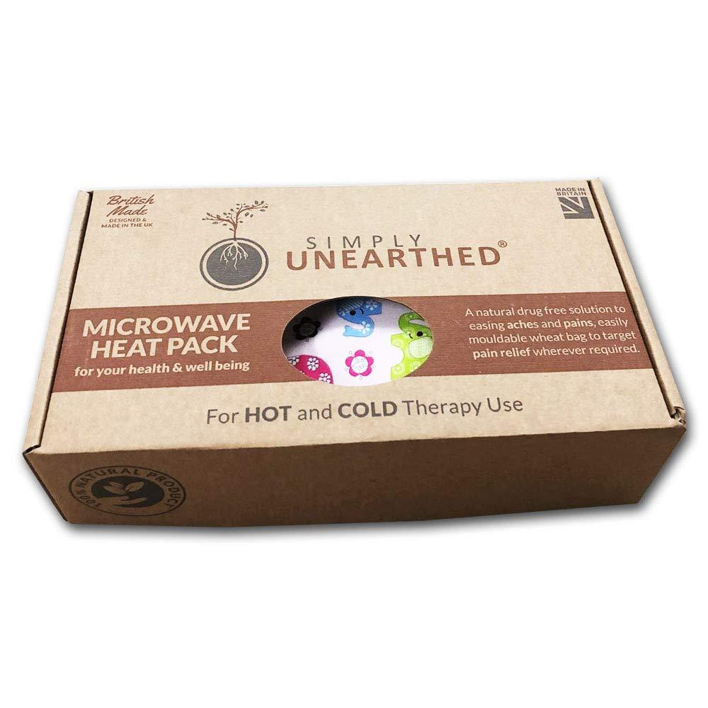 Bolsa de semillas para calentar en el microondas, sin aromas, algodón, diseño de elefantes: Amazon.es: Belleza
