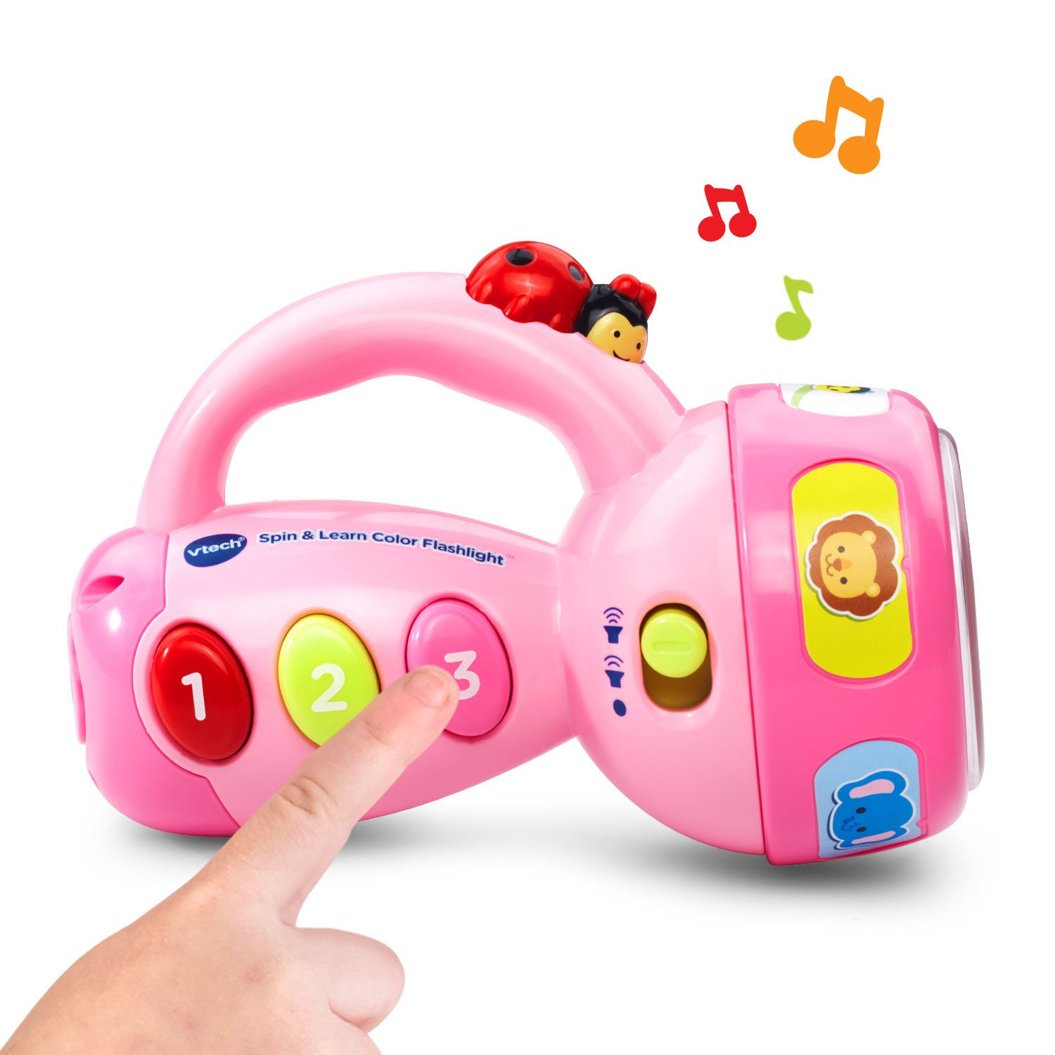 VTech Spin and Learn Color Flashlight Amazon Exclusive, Pink by VTech (Image #4)