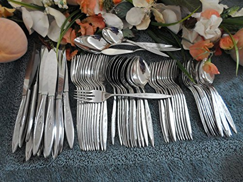 Oneida Royal Harvest (Vintage ROYAL HARVEST (wheat pattern):: Oneida Rogers 18/8 USA Stainless Flatware 63pc Set for)
