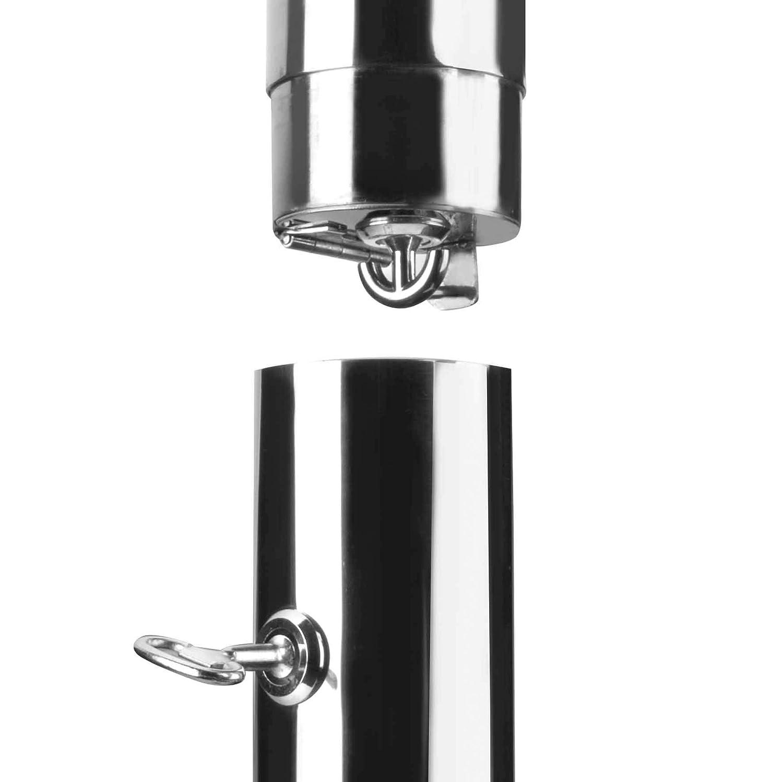 Lacor 63342 Cenicero Pared Black Acero Inoxidable 18//10