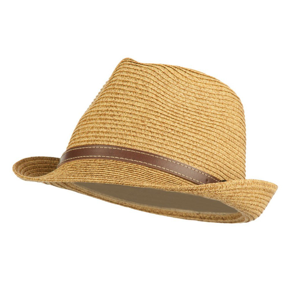 Jeanne Simmons UPF 50+ Tweed Braid Paper Fedora - Tan OSFM at Amazon  Women s Clothing store  bf0e114a091