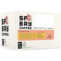 80-Count SF Bay Coffee Variety Pack Compostable Coffee Pods