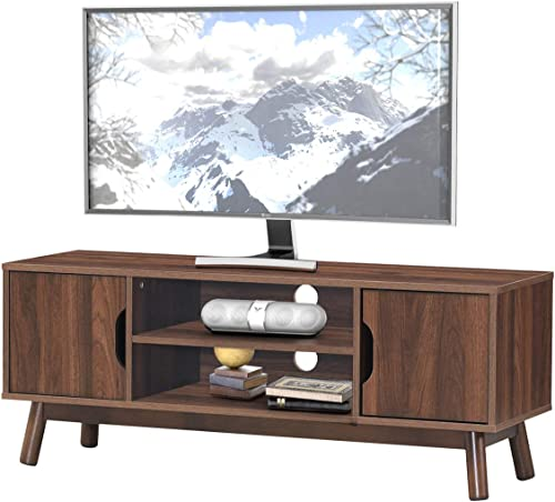 Tangkula Modern Wooden Universal TV Stand