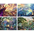 Ceaco 4-in-1 Multi-Pack Thomas Kinkade Disney Dreams Collection Jigsaw Puzzle ( Pieces ) 500