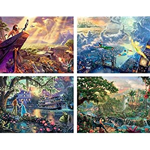 Ceaco 4 In 1 Multi Pack Thomas Kinkade Disney Dreams Collection Jigsaw Puzzle 500 Pieces