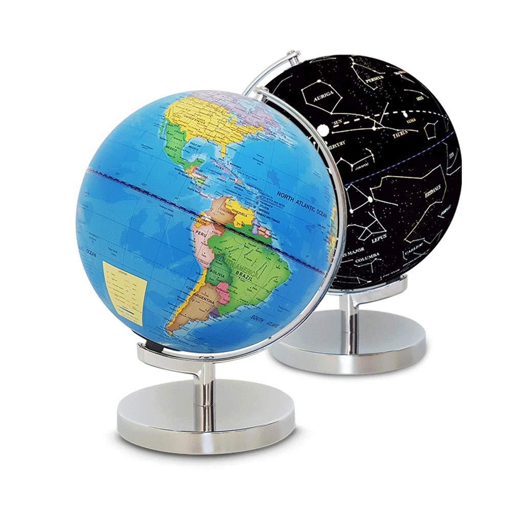 Desktop Globe Diametro 23 CM Home Office Decorazioni interattive educative Desktop Light Light Regalo per Bambini Studente Adulto Arredo per la casa degli Studenti (Colore   blu, Dimensione   23cm)