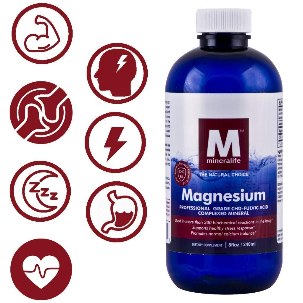 Amazon.com: Magnesio Iónico Líquido (8 oz – 96 Día Fuente ...