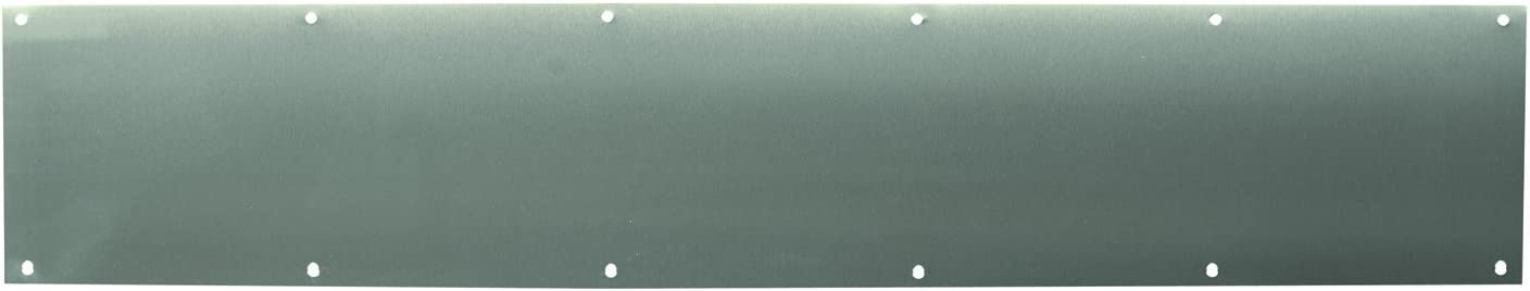 Prime-Line MP4708 Door Kick Plate, 6 X 34-Inch, Stainless Steel, Pack of 1, 6 in x 34 in x .03