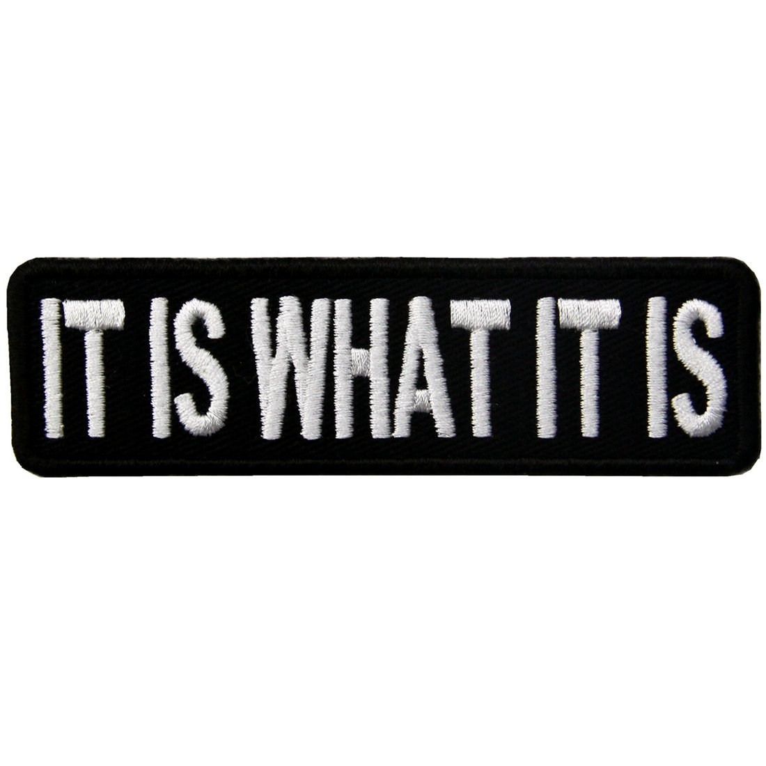 IT IS WHAT IT IS Funny Biker Embroidered Iron On Sew On Patch ZEGIN