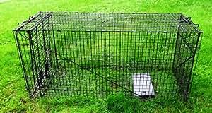 "Humane Trap - Live Animal (Coyote, Stray Cat, Fox, Raccoon) Trap - 50""x24""x19"""