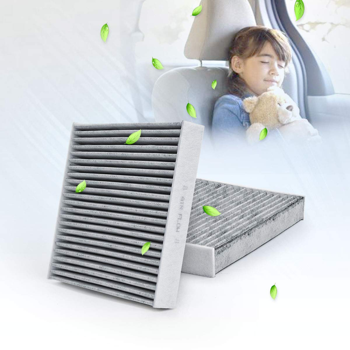 B727A79925 999M1-VS251 HQRP Charcoal Cabin Air Filter for B7200-5M000