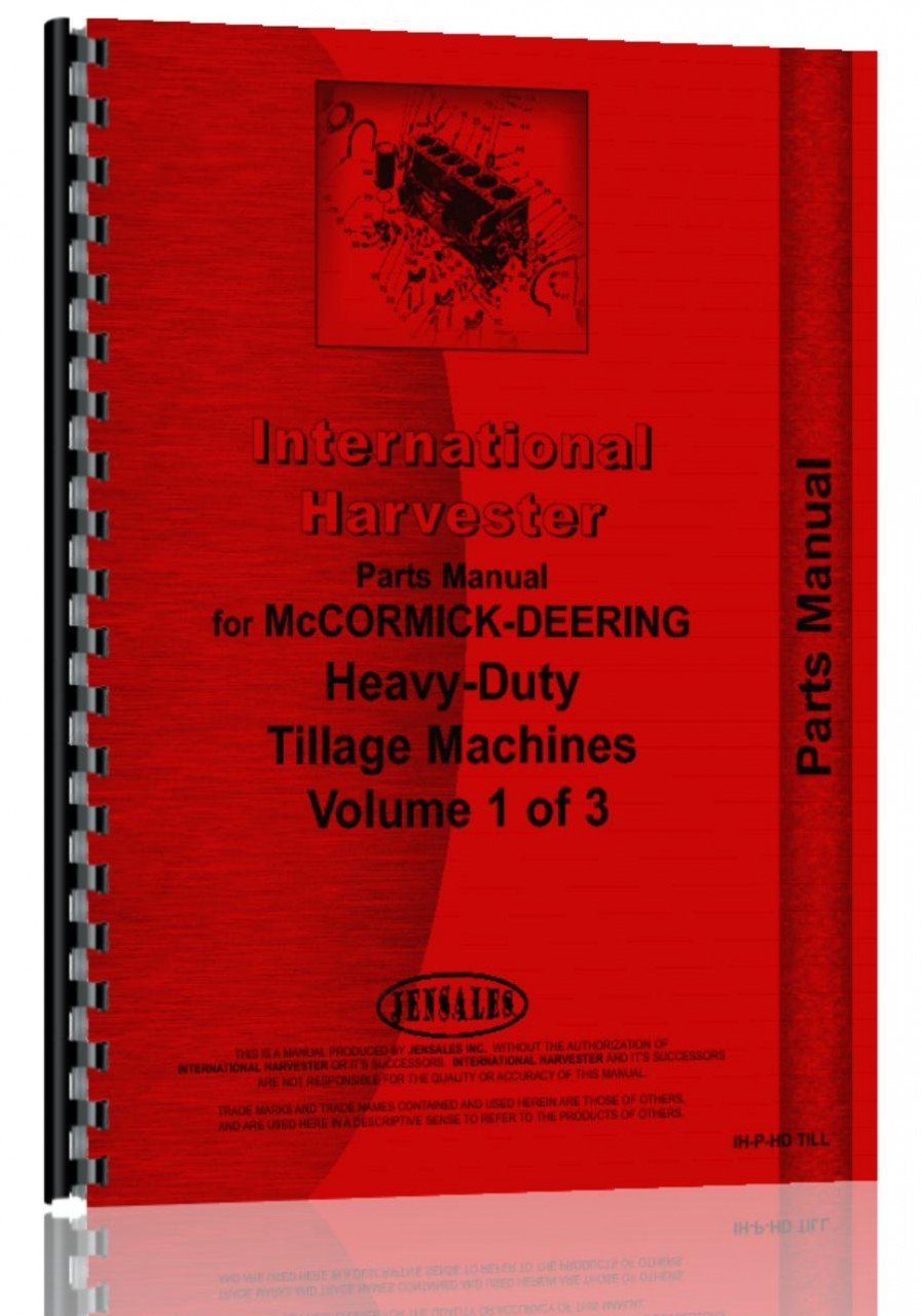 International Harvester 19 Tool Bar Attachment Parts Manual pdf epub