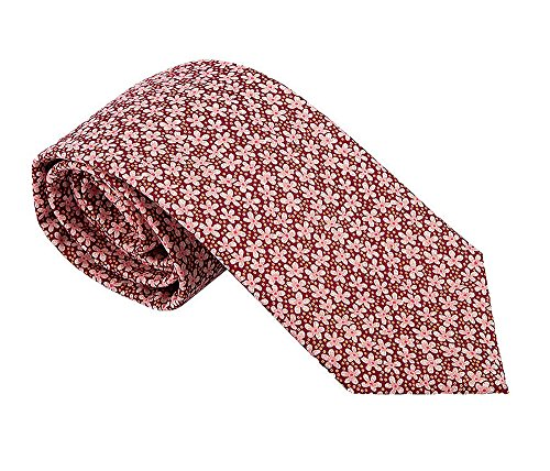 Luxury Neckties for Men: Liberty London Cotton Necktie, Classic Floral Print - Silk Scarves Liberty
