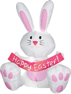 High Quality 4 Foot Happy Easter Bunny Airblown Inflatable