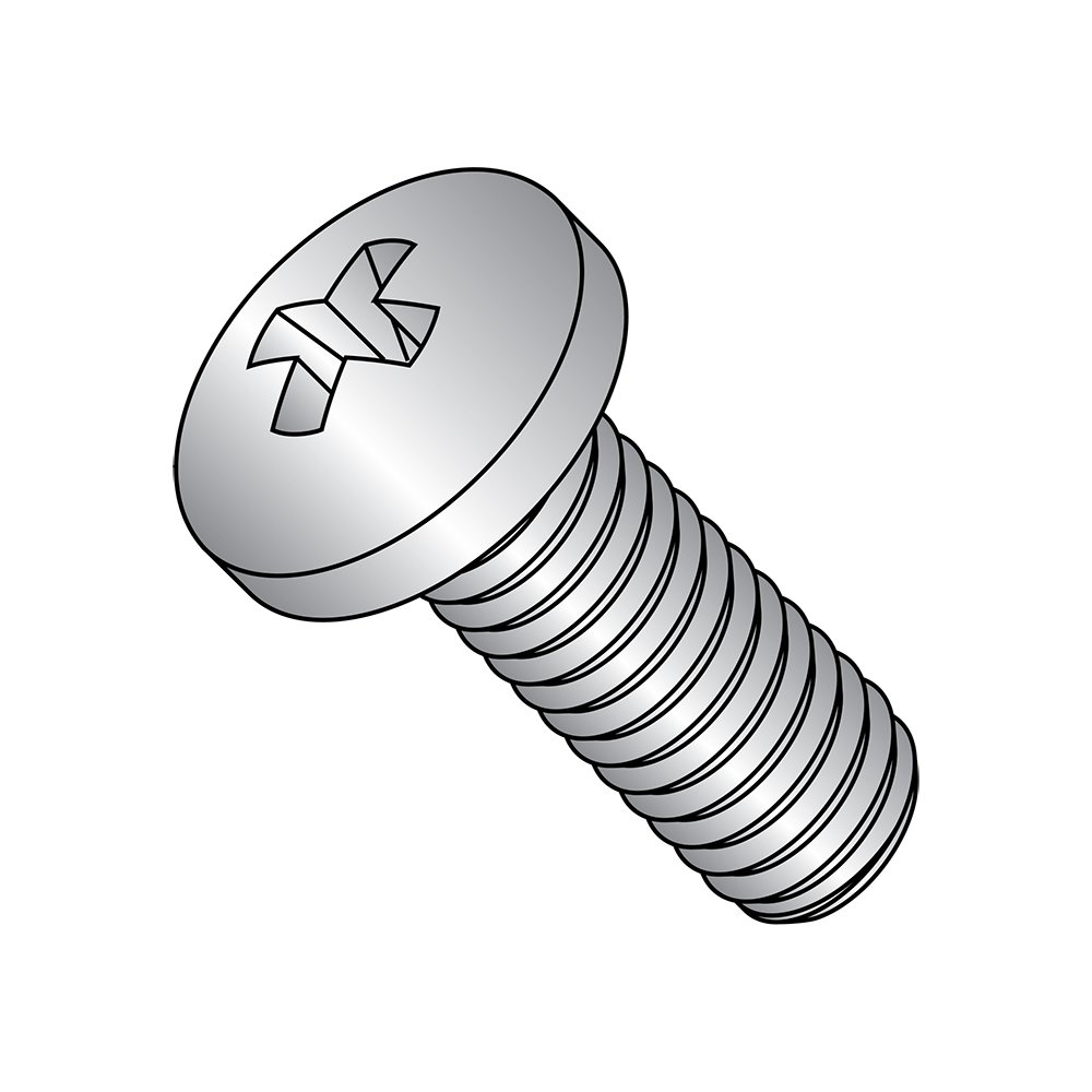 Passivated #3 Phillips Drive 1//4-20 Thread Size Meets MS-51957 Pack of 25 USA Made 300 Series Stainless Steel Pan Head Machine Screw Fully Threaded 5//16 Length 1//4-20 Thread Size 5//16 Length Small Parts MS51957-76