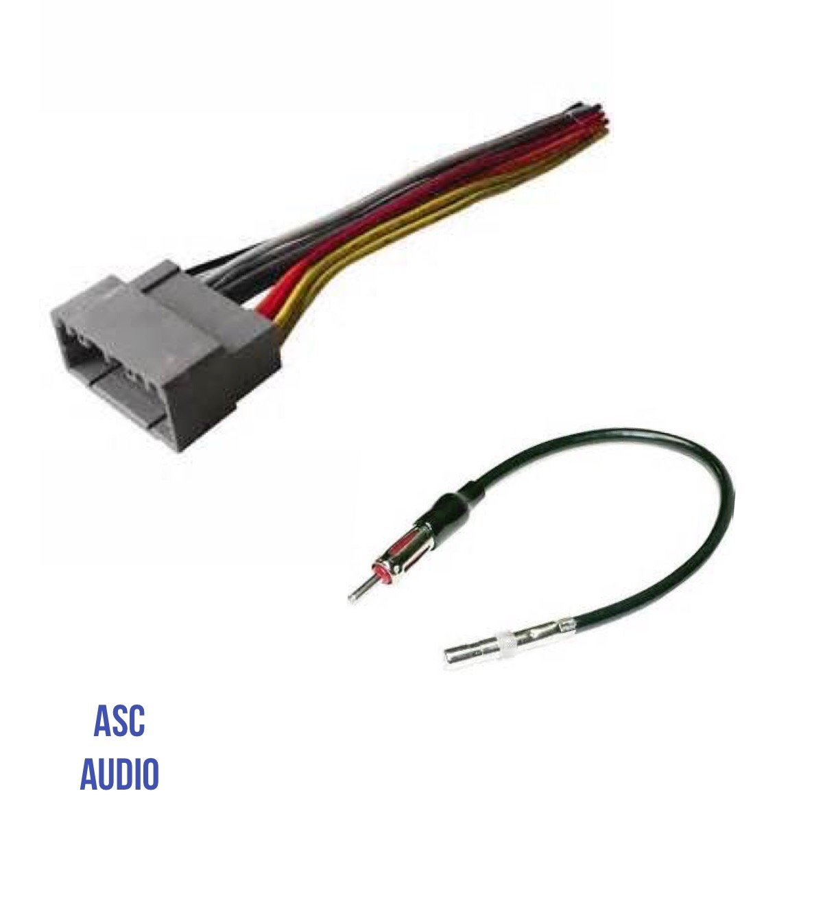 ASC Audio Car Stereo Wire Harness and Antenna Adapter to install an Aftermarket Radio for select Dodge Chrysler Jeep - Compatible Vehicles listed below