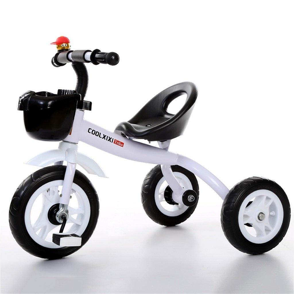 Triciclo de Lujo Cochecito de Bebé Bicicleta Niño Juguete Coche Rueda Inflable/Bicicleta de Rueda de Plástico Adecuado para 1-2-3-4 Años de Edad (Niño/Niña) (Color : Purple, Tamaño : A)