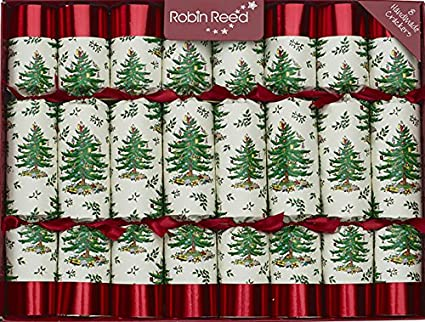 8 x 10 english christmas crackers by robin reed spode tree original