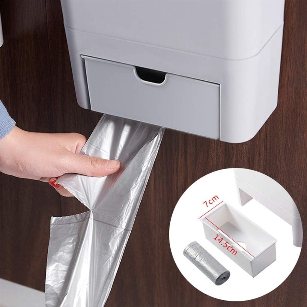 Papeleras HSF Cocina en la Pared la Puerta del gabinete se Puede Colgar en el Cuarto de ba/ño Bote de Basura Color : A, Size : 24cm*30cm