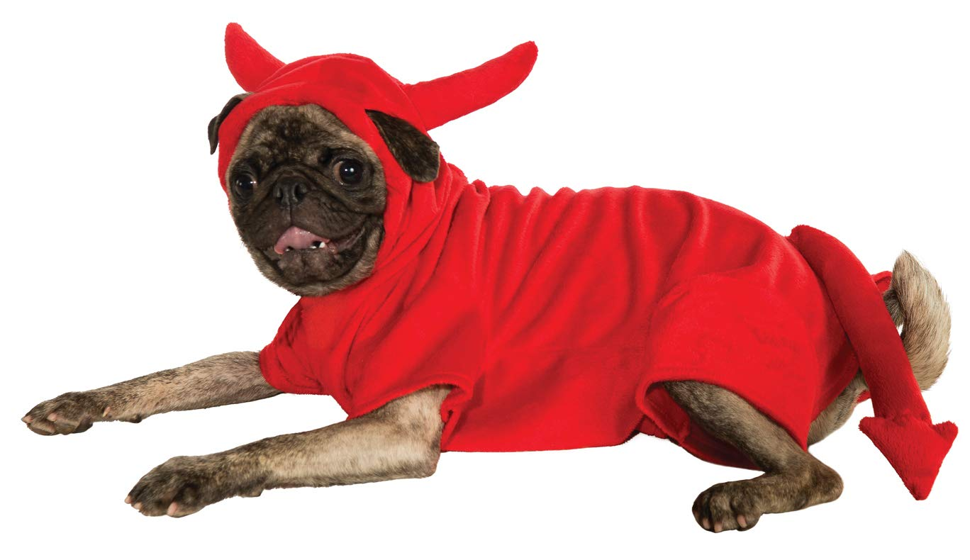 Fleece Devil Dawg Costume Hoodie Small Fleece Devil Dawg Costume Hoodie Small Rubies Costume Co Halloween Classics Collection Pet Costume, Small, Fleece Devil Dawg Costume Hoodie