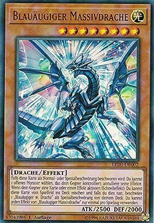 Auflage Blau/äugiger Chaosdrache LED3-DE001 Yu-Gi-Oh Deutsch 1 Ultra Rare