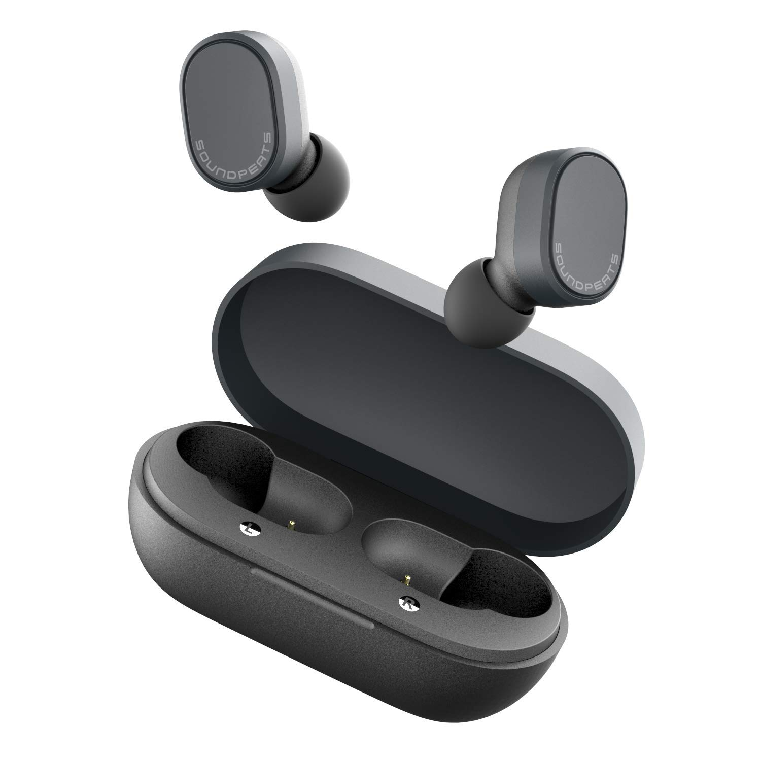 Wireless Earbuds Touch Control, SoundPEATS Truedot Bluetooh 5.0 Wireless Headphones 7.2 mm Drivers in-Ear Stereo Auto-Pair Earphones with Mic,Binaural/Monaural Calls,Smart Touch,IPX5, 16H Playtime