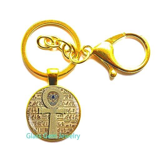 Q0090 - Llavero con cruz egipcia de Ankh, llavero egipcio ...