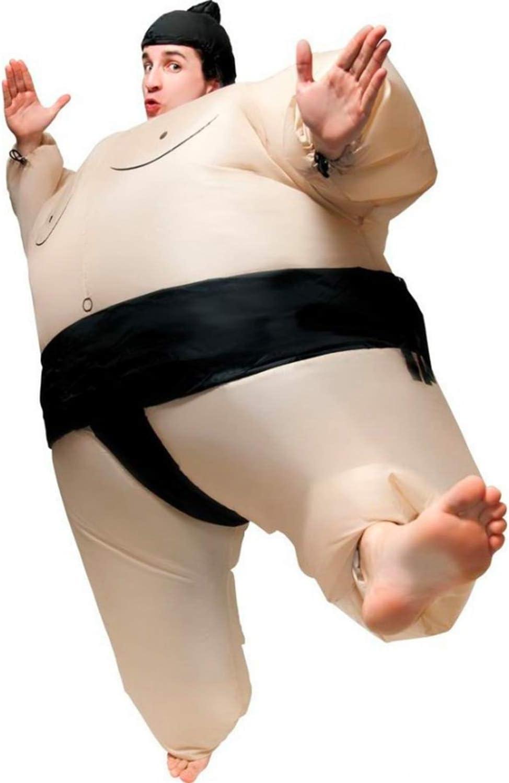 Qualit/é Premium Taille Adulte R/ésistant Cr/é/é par OriginalCup/® Polyester Agr/éable /à Porter Syst/ème de Gonflage Inclus Costume Gonflable Insolite D/éguisement Gonflable Sumo