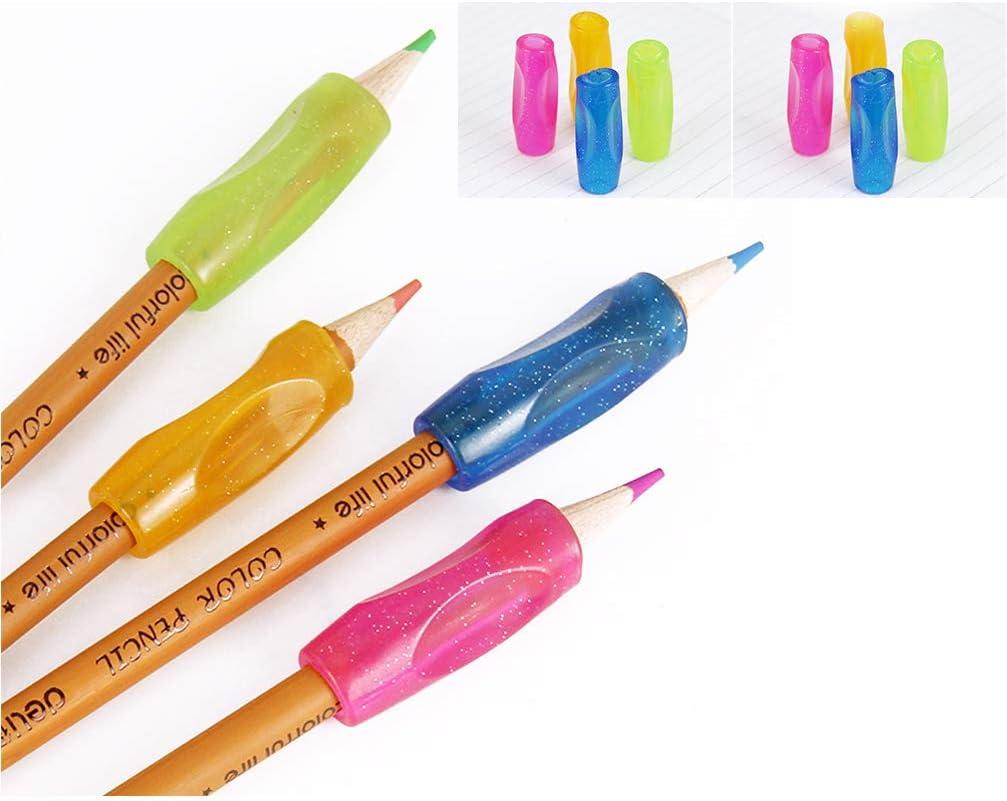 5er Set Schreibhilfe Stiftehalter ergonomisch Rechts u Linkshänder Griffhilfe