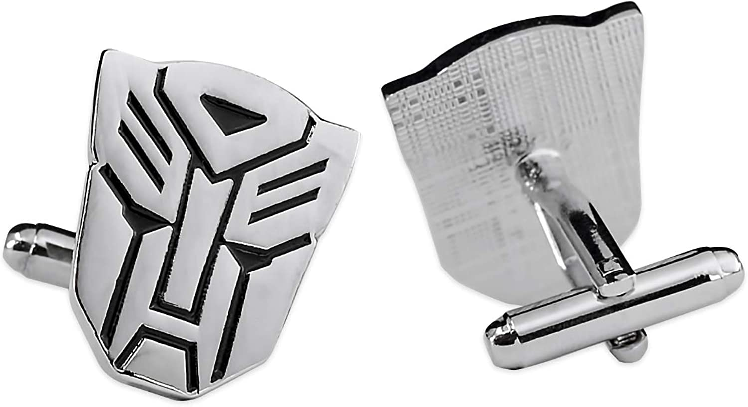 The Masonic Exchange Transformer Autobot Cuff Link Pair - [Silver][7/8'' Tall]