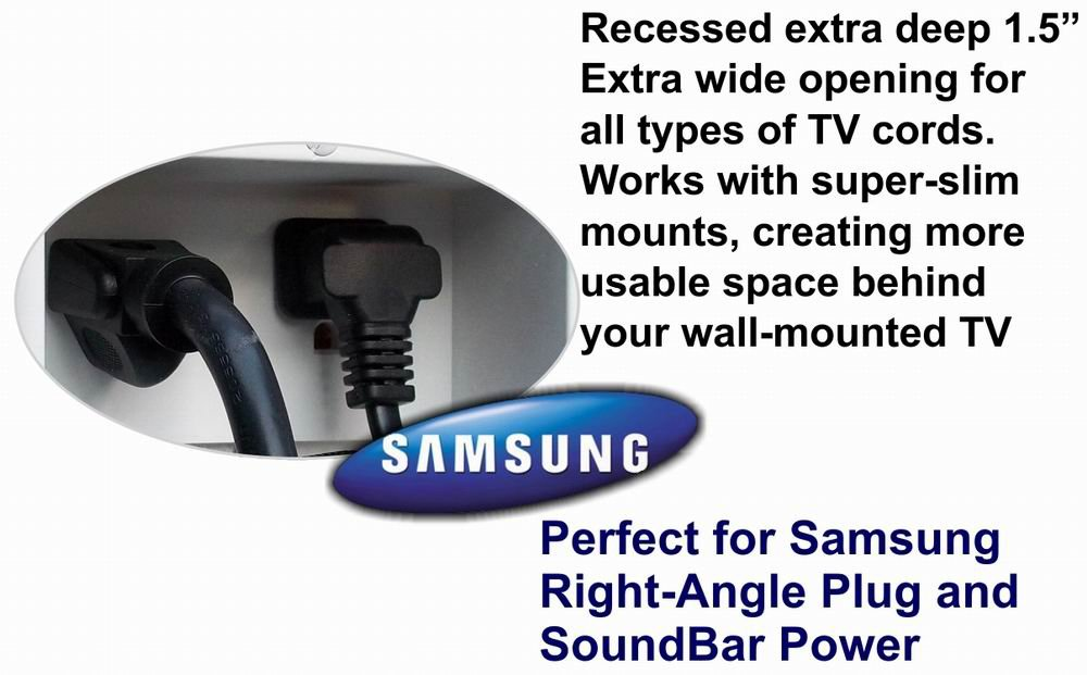 PowerBridge TWO-PRO-6 Dual Power Outlet Professional Grade Recessed In-Wall Cable Management System for Wall-Mounted Flat Screen LED, LCD, and Plasma TV's by PowerBridge Solutions (Image #9)