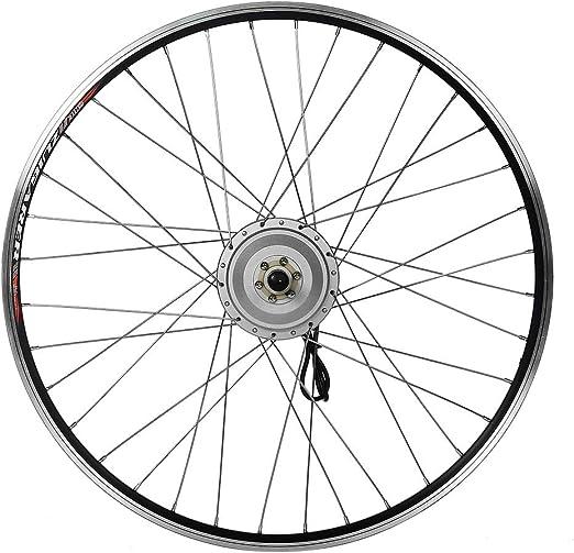 SEASON Kit de conversi/ón para Bicicleta el/éctrica Bike de 28 Pulgadas Motor Trasero de Bicicleta para Corona en Plata o Negro