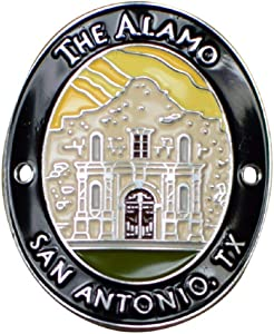 The Alamo Walking Stick Medallion - San Antonio, Texas, TX, Mission San Antonio