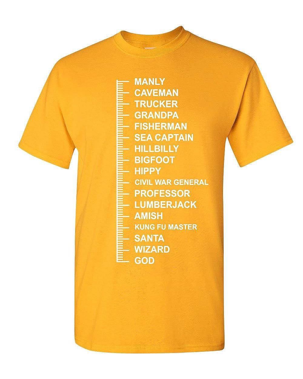 f9341ad7 Beard Length Measuring T-Shirt Funny Beard Ruler Tee Shirt | Amazon.com