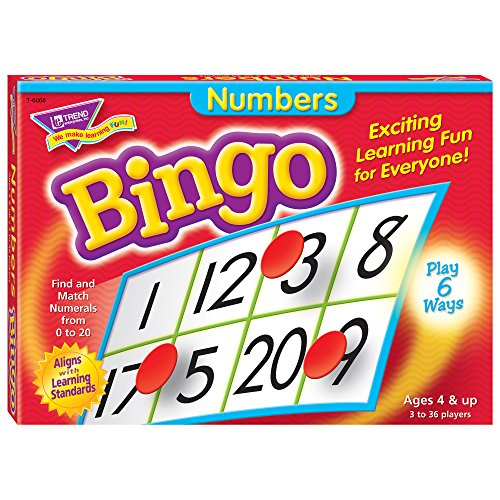 Kindergarten Game Counting - Numbers Bingo Game