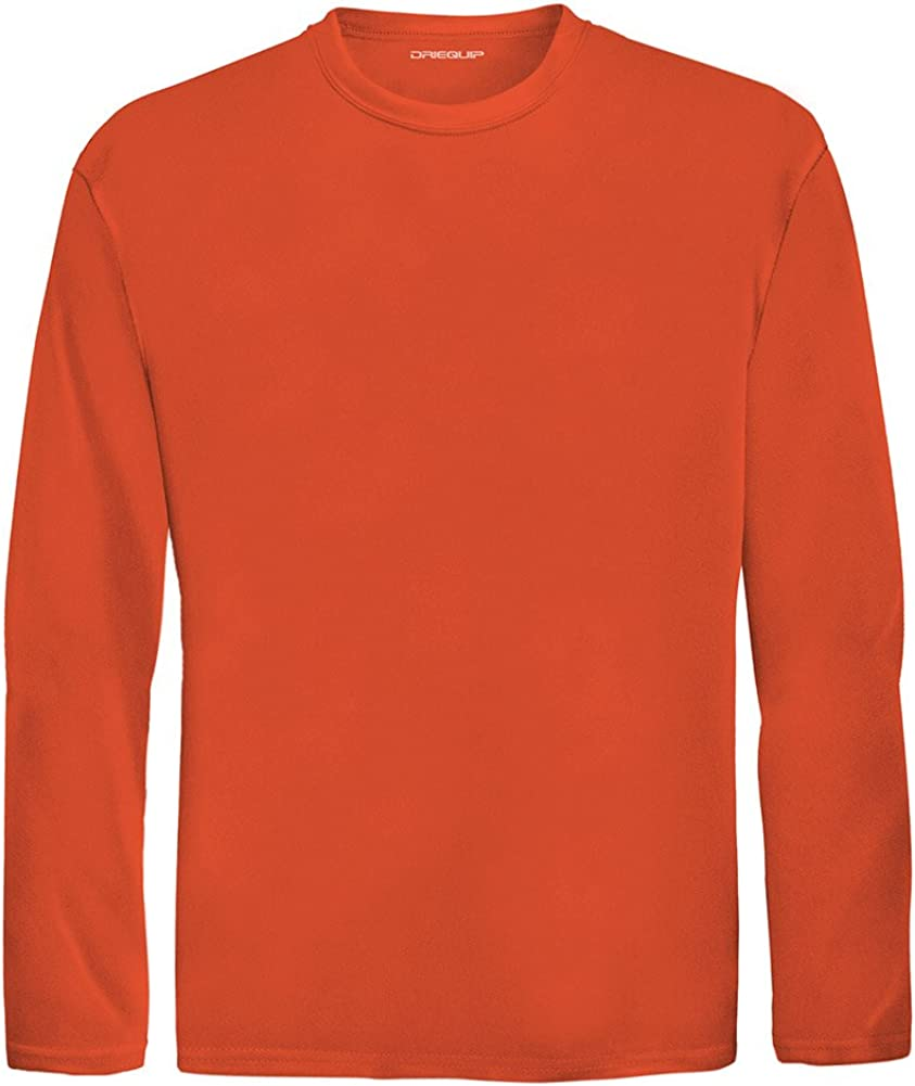 Youth Sizes XS-XL DRI-Equip Youth Long Sleeve Moisture Wicking Athletic Shirts