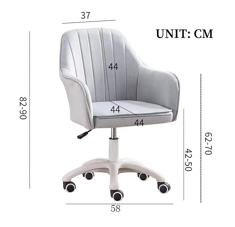LYJBD Skrivbordsstolar med hjul, bekväm armlös svängbar stol, justerbar svängbar rullande ergonomisk verkställande kontorsstol gRÖN