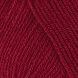 Mary Maxim Starlette Yarn - Red Wine - 100% Ultra Soft Premium Acrylic Yarn for Knitting and Crocheting - 4 Medium Worsted We