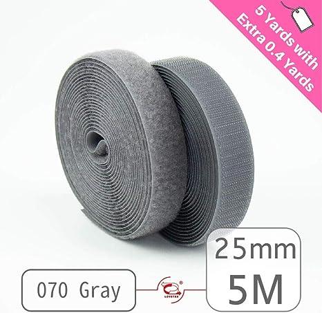 """1/"""" 5 Meters Sew on Hook and Loop Fastener Tape for 12 Colors LOVETEX 25mm"""