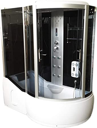 Bañera de esquina Ducha Cabina hidromasaje PARADISE 170 x 90 cm h ...