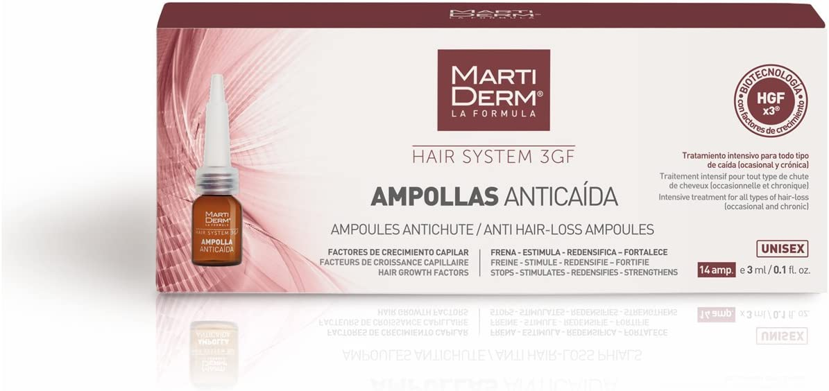 HAIR SYSTEM 3 GF 14 AMPOLLAS ANTICAIDA