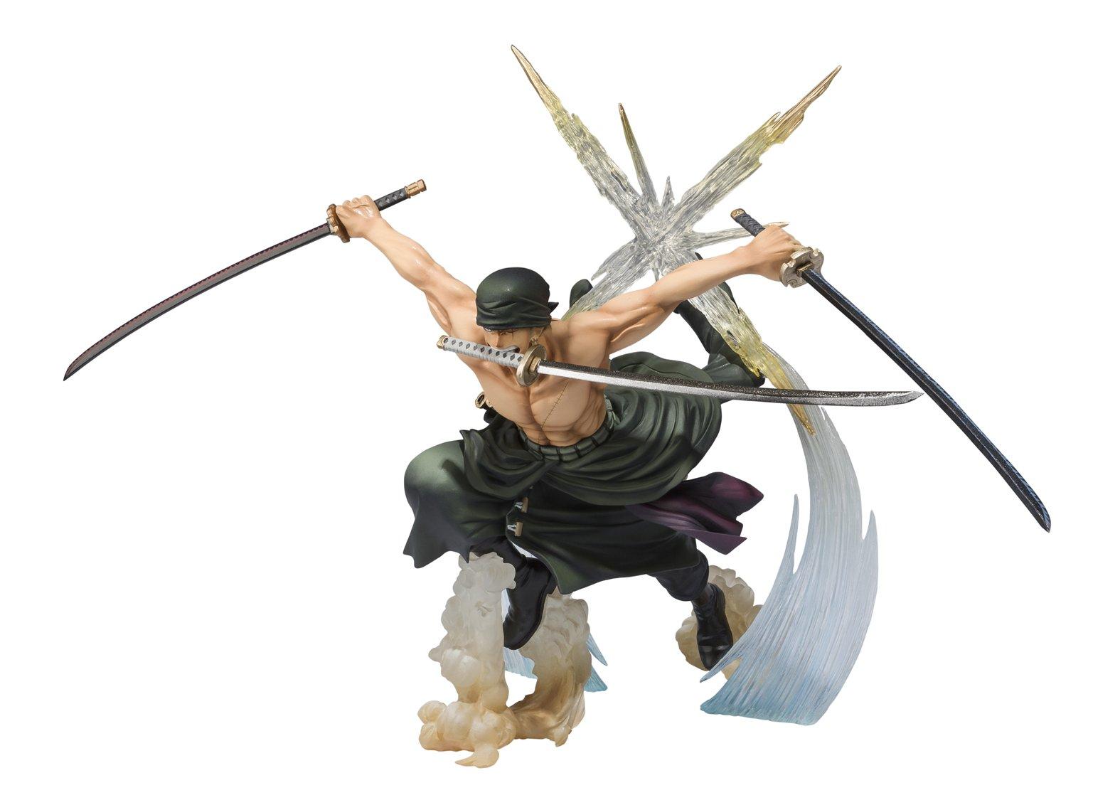 Bandai Tamashii Nations Figuarts Zero Roronoa Zoro Battle Version Rengoku Onigiri Action Figure