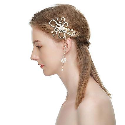 Amazon Com Handmade Pearl Hair Comb Bride Wedding Tiara Hair